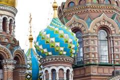 Orthodoxy church in Petersburg Stock Image