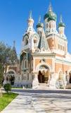 Orthodoxy kyrkliga trevliga Frankrike Royaltyfria Foton