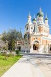 Orthodoxy kyrkliga trevliga Frankrike Royaltyfri Bild