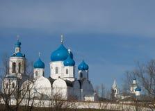 Orthodoxy monastery is in Bogolyubovo stock photo