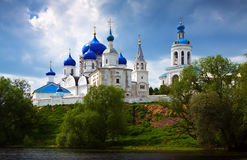 Orthodoxy monastery at Bogolyubovo in summer Royalty Free Stock Photo