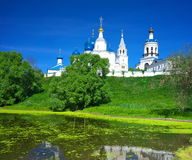 Orthodoxy monastery at Bogolyubovo in summer day. Russia Stock Photos