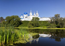 Orthodoxy monastery at Bogolyubovo in summer day. Russia Stock Photography