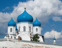 Orthodoxy temple. Old orthodoxy temple is in Bogolyubovo from Russia Stock Images