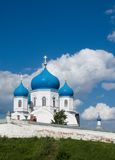 Orthodoxy temple. Old orthodoxy temple is in Bogolyubovo from Russia Royalty Free Stock Photos