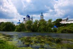 Orthodoxykloster på Bogolyubovo Arkivbild
