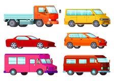Orthogonal Car Set Stock Photo