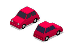 Orthographic city car. In isolated white background Royalty Free Stock Photography