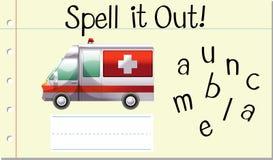 Orthographiez-le ambulance illustration de vecteur