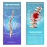 Orthopädie-und Traumatology-Satz-flache Fahne stock abbildung