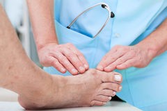Orthopaedist at work Stock Images
