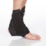 Orthopedic ankle brace. On white background Stock Photos