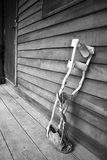 Orthopedic equipment for the correction. Used black and white filter Stock Image