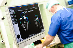 Orthopedic equipment navigation system Stock Image