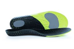 Orthopedic insoles for athletic shoes Stock Photo