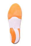 Orthopedic insoles on white background. Orthotics on a white background. Insert in shoes to support the foot stock photography