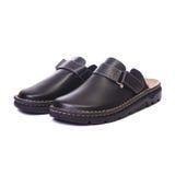 Orthopedic male shoes white isolated background Royalty Free Stock Images