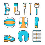 Orthopedic set of items for the medical rehabilitation Stock Photography