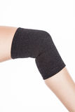 Orthopedic support for the knee. On white background Royalty Free Stock Images