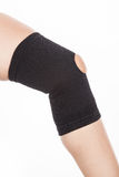 Orthopedic support for the knee. On white background Stock Photos