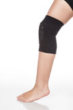 Orthopedic support for the knee. On white background royalty free stock photos