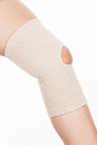 Orthopedic support for the knee. On white background Royalty Free Stock Photography