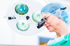 Orthopedic surgeon with special glasses Stock Image