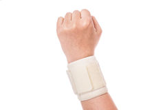 Orthopedic wrist band. Sports injuries royalty free stock images