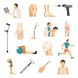 Orthopedics Color Icons Set Royalty Free Stock Images