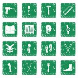 Orthopedics prosthetics icons set grunge Royalty Free Stock Image