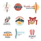 Orthopedics and traumatology emblem set design Stock Photos