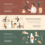 Orthopedics And Traumatology Horizontal Banners Stock Photo