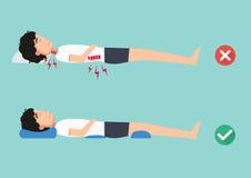 Orthopedische hoofdkussens, voor een comfortabele slaap en een gezonde houding stock illustratie