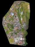 Orthorectified luchtbeeld Stock Foto's