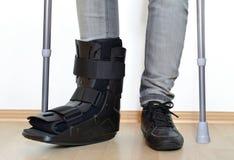 Orthosis cervix croup gibs splint broken fracture sneaker stock photo