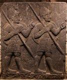 Orthostats zwiastun ściana w muzeum Anatolian cywilizacje, obraz stock