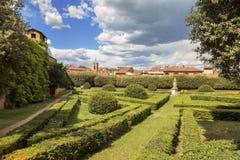 Orti Leonini著名意大利庭院  库存图片