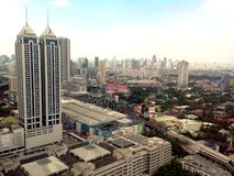 Ortigas, pasig, mandaluyong and makati skyline Stock Photos