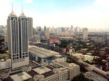 Ortigas, pasig, mandaluyong and makati skyline Stock Photos