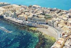 Ortigia, Сиракуз Сицилия стоковая фотография