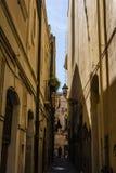 Ortigia Alley, Syracuse, Sicily, Italy Stock Photo