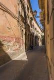 Ortigia Alley, Syracuse, Sicily, Italy Royalty Free Stock Photography