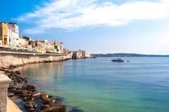 Ortigia coast Stock Images
