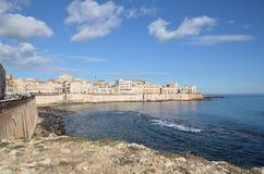 Ortigia island in Syracuse, Sicily Royalty Free Stock Photos
