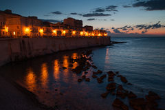 Ortigia by night Stock Photography