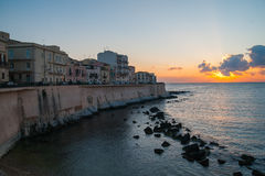 Ortigia by night Royalty Free Stock Images