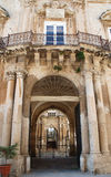 Ortigia - Palazzo Beneventano. One of the most representative Sicilian baroque style palazzo Stock Photo