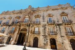 Ortigia street view, Syracuse, Sicily, Italy. royalty free stock photography