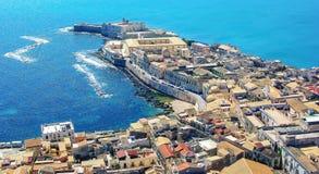 Ortigia Syracuse, Sicilien Fotografering för Bildbyråer