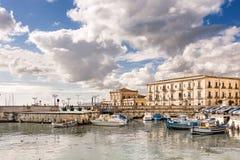 Ortigia Syracuse Sicilien, Italien royaltyfri foto